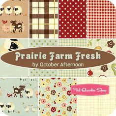 Loving this line too, would be great for a baby blanket! Prairie Farm Fresh by October Afternoon for Riley Blake