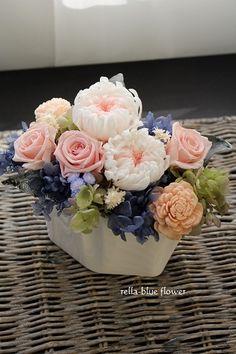 レッスン作品☆ | 静岡市フラワーアレンジメンント教室&ブーケサロン レラブルー                rella-blue flower