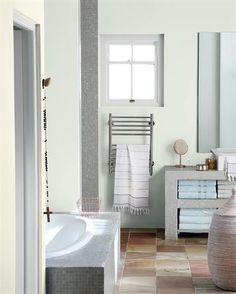 Turn your bathroom into a spa-like sanctuary with whispers of grey and blue. Room Makeover, Bathroom Makeover, House Design, Room Renovation, Room Makeover Inspiration, Dream Room, Makeover, Dream Rooms, New Homes