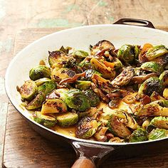 Soy- and Chile-Glazed Brussels Sprouts with Shiitake Mushrooms From Better Homes and Gardens, ideas and improvement projects for your home and garden plus recipes and entertaining ideas.