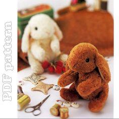Conejo de peluche hecho a mano