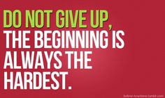 Beginnings are usually hard, and the end is usually sad, but it's what's in the middle that counts!!