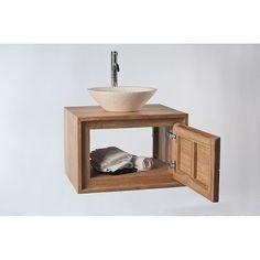 meuble de salle de bain teck à suspendre aquila l140 cm | salle de ... - Meuble Salle De Bain Teck Suspendu