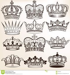 Collection Of Vector Royal Crowns For Heraldic Design - Download From Over 28…