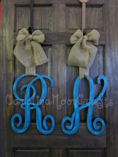 Single Letter Monogram Wooden Door Decor  18 by CarolinaMoonCrafts, $54.95
