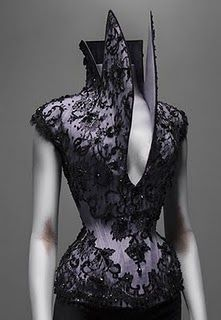 Alexander McQueen - I love this piece!  My own inspiration for the way my Waistcoat corset is constructed is inspired by this design.
