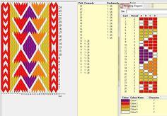 Pakistanisches muster. 26 tarjetas, 5 colores   // Triangulitos ༺❁