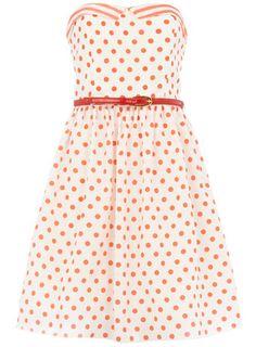 Cream polka dot dress - WANT!!!