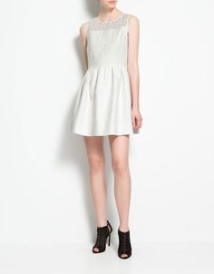 Liz - cute but too light.  I think some off whites will be fine, but more off white than this.  I want a little contrast.  But I do like that dress though, any other colors?  Maybe it isnt as white in person?
