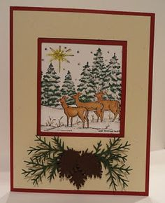 Northwoods rubber stamps card