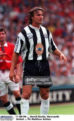 Newcastle Shirt, David Ginola, Newcastle United Football, Gorgeous Men, Soccer, Army, The Unit, Retro, Sports