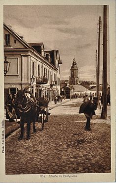 Ulica Suraska #Bialystok Old Photos, Poland, Past, Retro, Places, Painting, Beautiful, Historia, Fotografia