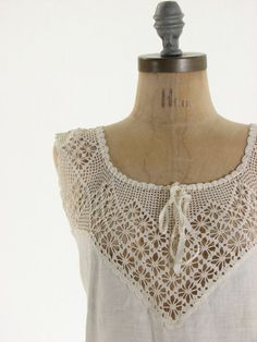 Edwardian White Antique Vintage Camisole by snootieseconds, $89.00