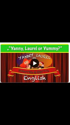"""Gretel and Kasperl try to solve the """"Yanny or Laurel"""" mystery. Youtube Kanal, Puppets, Videos, Mystery, Challenges, Movie Posters, Movies, Cordial, Adventure"""
