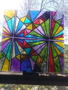WEALTH coloring page turned into stained glass