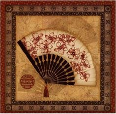 Framed picture of an Oriental fan Oriental, Chinese Wall, Cairns, Hand Fan, I Tattoo, Framed Artwork, Find Art, Picture Frames, Photos