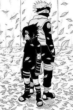 Sasuke And Kakashi Naruto Uzumaki, Anime Naruto, Comic Naruto, Naruto Shippudden, Kakashi Hatake, Boruto, Naruto Pictures, Manga Pictures, Manga Black And White