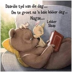 Beginner Knitting Patterns, Knitting For Beginners, Afrikaanse Quotes, Good Night Blessings, Goeie Nag, Good Night Quotes, Sleep Tight, Winnie The Pooh, Disney Characters