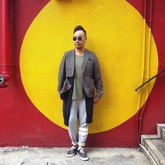 Get this look: http://lb.nu/look/8676015  More looks by Mannix Lo: http://lb.nu/mannixlo  Items in this look:  Philippe V Sunglasses, R1476 Remade Vintage Blazer, H&M Tee, Uniqlo Long Cardigan, H&M Sweat Pants, Global Works Patchwork Sneakers   #sunglasses #sunnie #shades #eyewear #philippev #vintageblazer #remade #blazer #tee