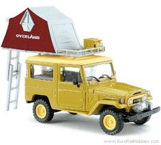 Busch 43007 1975 Toyota Land Cruiser FJ40 Hardtop SUV - With Roof Tent