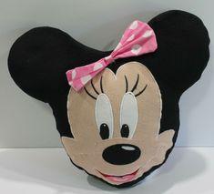 Disney Minnie Mouse Face Pillow Plush Stuffed Toy #Disney Stuffed Toy, Minnie Mouse, Plush, Pillows, Toys, Disney, Car, Activity Toys, Automobile