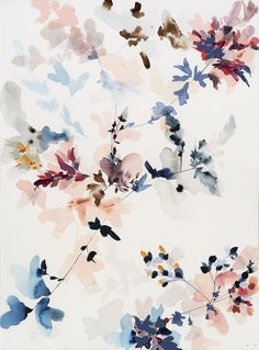 Wildflower Study J-B, 2017 mixed media on paper, 30 x Flowery Wallpaper, Flower Background Wallpaper, Flower Phone Wallpaper, Cute Patterns Wallpaper, Flower Backgrounds, Wallpaper Backgrounds, Watercolor Wallpaper Iphone, Aesthetic Iphone Wallpaper, Aesthetic Wallpapers