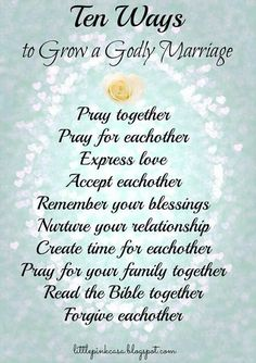 Rules to have a godly marriage