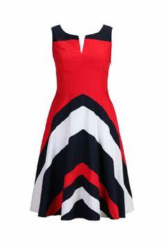 Shakti Women's Retro style colorblock dress