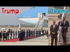 President Trump VS President Obama Visiting South Korea (Huge Difference) - YouTube