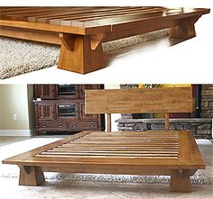 platform beds low platform beds japanese solid wood bed frame - Low Wood Bed Frame