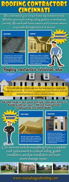 You must protect your roof because your roof protects your home and everything in it. Try this site http://titansidingandroofing.com/ for more information on roof repair Cincinnati. Without a properly installed roof, you may lose your home and everything in it. The roof is also a big expense when it comes to repairs and roof leaks can happen quickly and grow over time. Therefore it is imperative that you opt for the best roof repair Cincinnati Company.