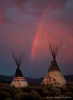 Rainbow Tipis in Taos New Mexico ~ amazing photography of Geraint Smith