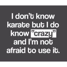 I don't know karate, but...