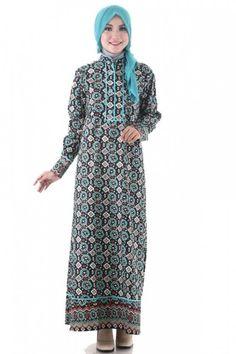 Gamis batik kasual-1