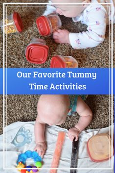 Tummy Time – Tips and Our Favorite Activities Keeping baby happy and busy while in tummy time can be a challenge. However, it's vital for development! Use these tips and activities to make tummy time more fun for everyone. - Baby Development Tips Montessori Baby, Montessori Bedroom, Baby Sensory Play, Baby Play, Baby Massage, Infant Activities, Sensory Activities, 3 Month Old Activities, Baby Slide