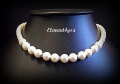 Bridesmaid necklace Bridal necklace Wedding jewelry by Element4you