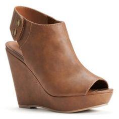 Candie's Peep-Toe Wedge Sandals  Women