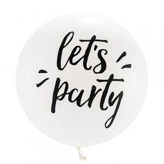 "Ballon blanc ""Let's party"" - 91 cm"