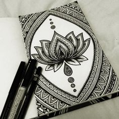 I love this lotus mandala... For more ideas search for @Natalie N