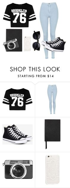 """""""Без названия #141"""" by zahra890 ❤ liked on Polyvore featuring Boohoo, Topshop, Converse, Smythson, Casetify and JFR"""