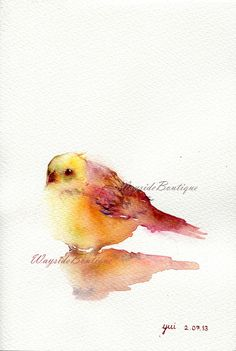 Little Bird  ORIGINAL watercolor painting by WaysideBoutique, $30.00