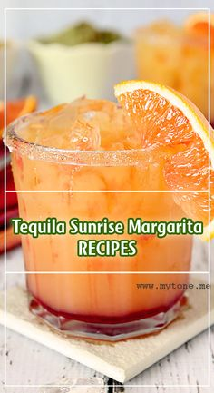My Tone: Tequila Sunrise Margarita Liquor Drinks, Non Alcoholic Drinks, Cocktail Drinks, Cocktail Recipes, Beverages, Alcholic Drinks, Holiday Cocktails, Refreshing Drinks, Yummy Drinks