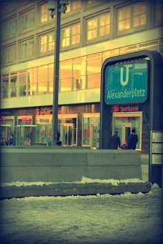 metro station at Alexanderplatz Metro Station, Berlin, Europe, Savings Bank