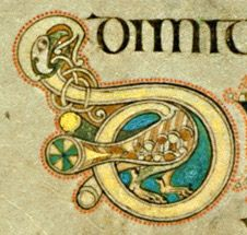 @Lisa Dixon    Book of Kells - initial letter D formed by bird