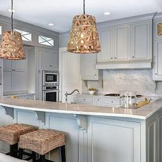 Gray Owl, Transitional, kitchen, Benjamin Moore Gray Owl, Jill Frey Kitchen Design