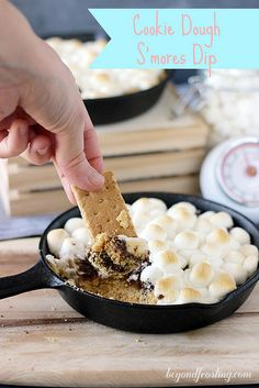 Cookie Dough S'mores Dip | beyondfrosting.com | #cookiedoughweek #smores by Beyond Frosting, via Flickr