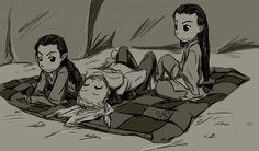 elflings: Elladan, Legolas, and Elrohir by bobtheacorn.deviantart.com