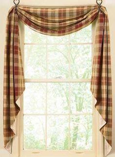 cortina xadrez cozinha