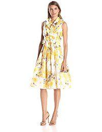 c296d42d3c515 Jessica Howard Women s Shantung Wrap Dress One piece sleeveless fit and  flare wrap dress