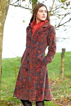**SALE** NOMADS fair trade BOHO hippy EMBROIDERED velvet EVENING dress COAT VT66